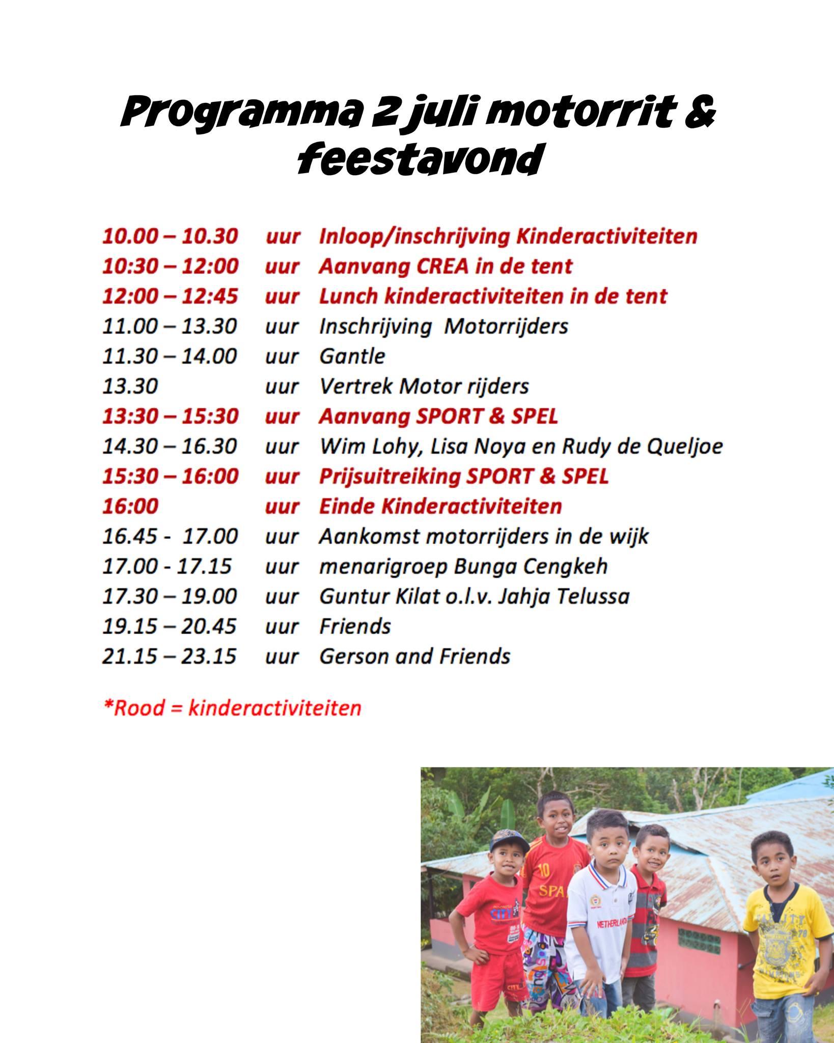 Programma 2 juli